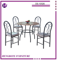 Living Room Furniture Table and Chairs/Dining Set for 4 Persons/MDF Wholesale Dining Table with 4 Chairs