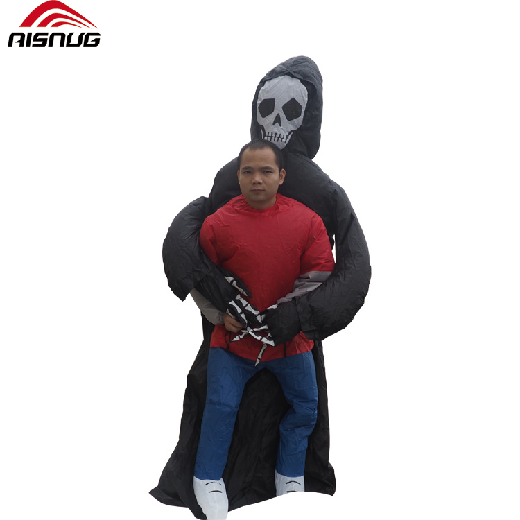 Grim Reaper Scary Halloween Costumes Wrestler Witch Ghost Rider Pumpkin Skeleton Skull Inflatable Illusion Blowup Suit