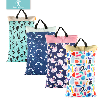 Happy flute washable PUL Fabric Towel Wet Dry Cloth Nappy Bags Wholesale Baby Cloth Diaper Bag