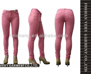 3159dbd31 Wholesale candy color skinny jeans for women   girls sexy tight jeans