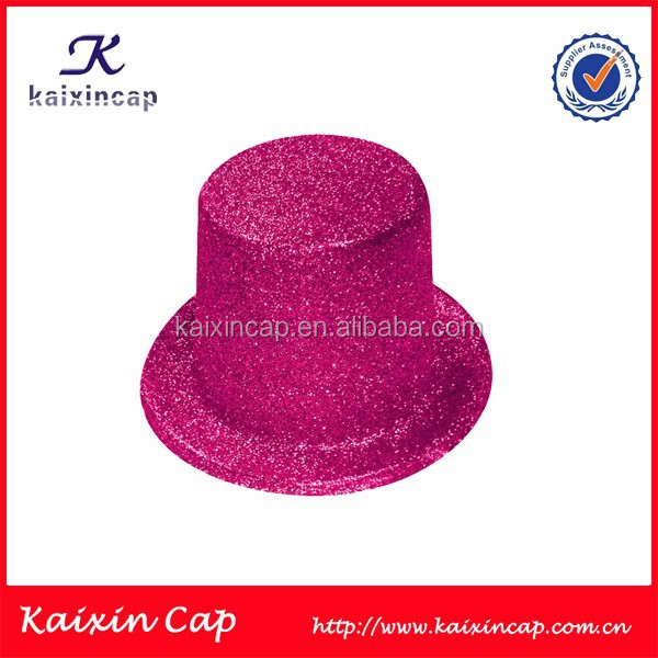 Wholesale Custom Glitter Top Hat/Cps