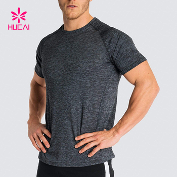 Hot Fashion Cotton Spandex Running Fitness Dry Fit T Shirt Men