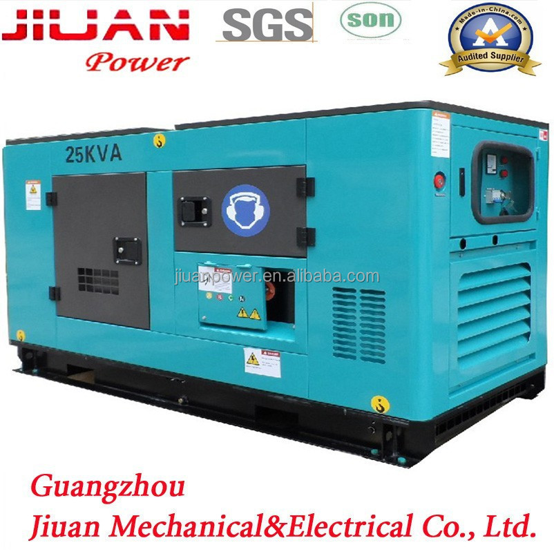 25KVA diesel generator set price with cum engine 4B3.9-G1