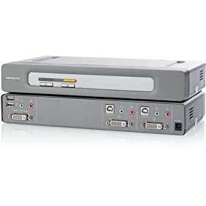 "Belkin International, Inc - Belkin Omniview F1dn102d Kvm Switch - 2 Computer(S) - 2560 X 1600 - 4 X Usb - 3 X Dvi - Rack-Mountable ""Product Category: Switchboxes/Kvm Switchboxes"""