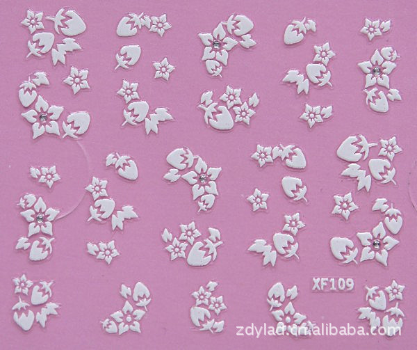 flower design Water Transfer Nails Art Sticker decals lady women manicure tools Nail Wraps Decals wholesale