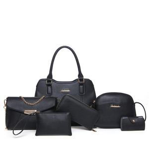 Wholesale fashion designer PU leather bag purse sets ladies handbag 6pcs set  bags handbag sets 6pieces women bags ff81d4ac24c05