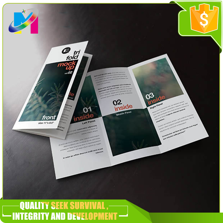 Ecofriendly supermarket folding cheap paper flyer print card printing brochure