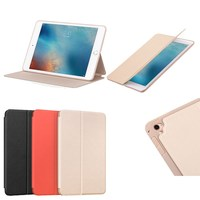 luxury hoco retro genuine leather caes for ipad pro 9.7,ultra thin business 3 foldable stand smart cover for ipad pro 9.7