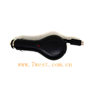 micro retractable car charger for nokia,mot,htc,etc. mobiles
