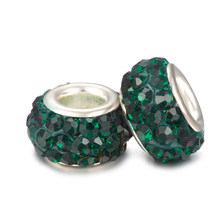 Otcbyna глина разных цветов DIY смолы Стразы Бусины Подходит Pandora амулеты Браслеты и ожерелья Модные круглые шарики для украшений(Китай)