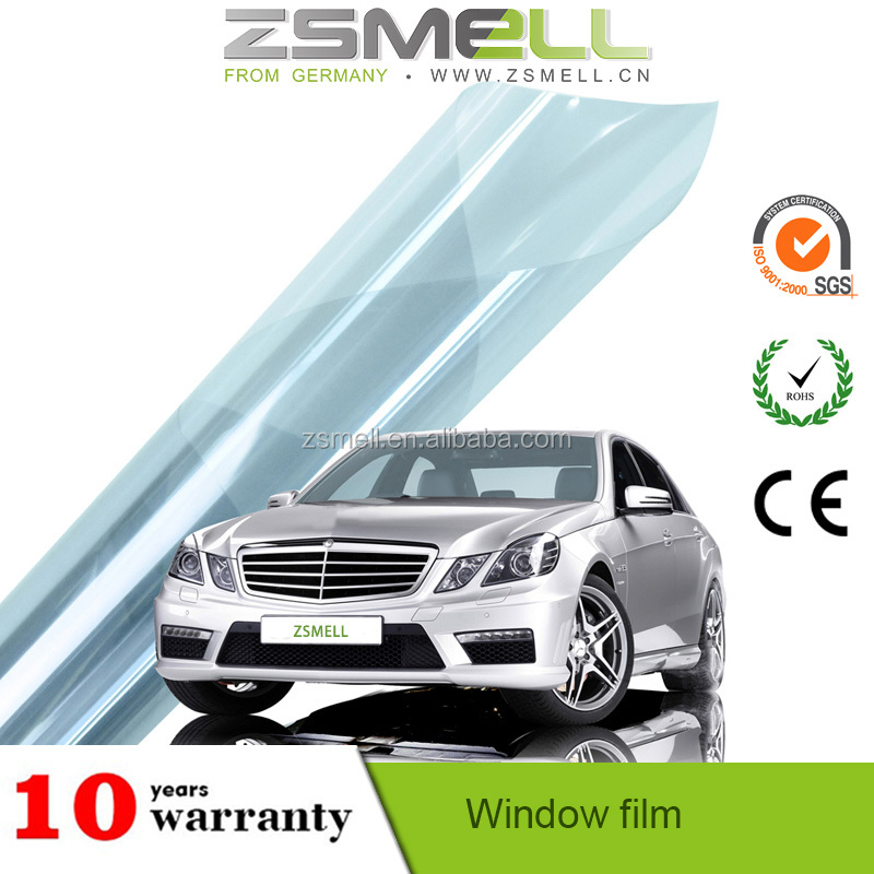 ZSMELL-China factory VLT5% -70% IR100% nano ceramic vinyl wrap blue/green mirror window tint