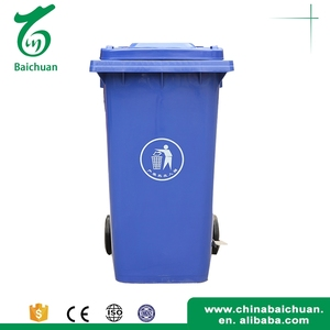 Wholesale garbage waste pedal container compost bin plastic trash bin 240L with wheels