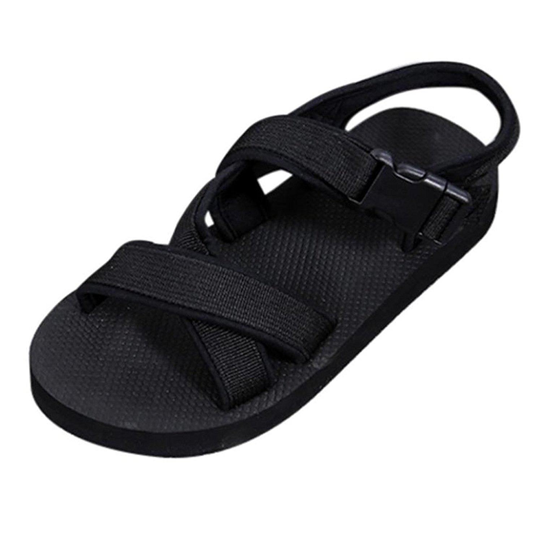 da93c3e2950c Get Quotations · Inkach Summer Flip-Flops Sandals - Unisex Ankle Wrap  Buckle Sandals Couples Bath Slippers Beach