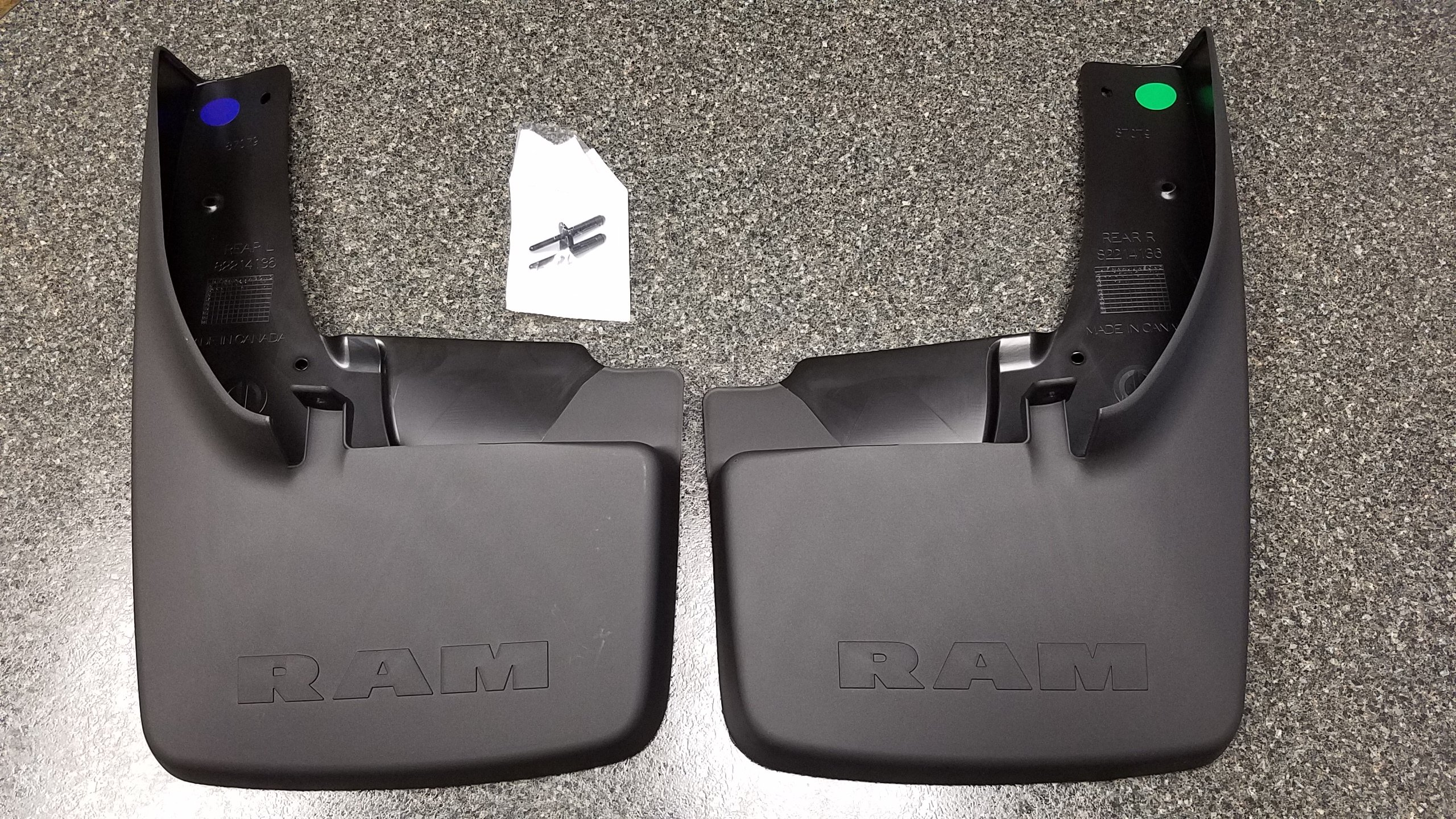 DODGE RAM 1500 2500 3500 Splash Guard Set W// Flares Front And Rear NEW OEM MOPAR