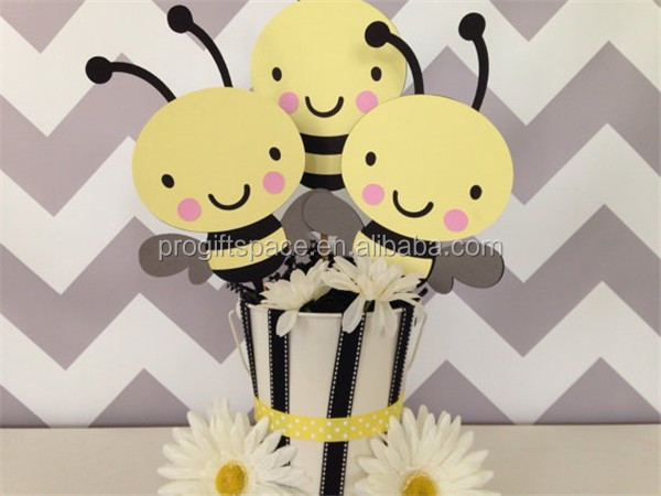 Hot Sell Wooden Bumble Bee Baby Shower Centerpiece Bumble Bee Party
