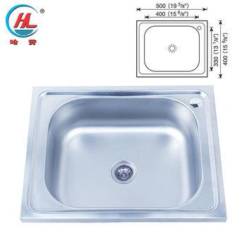 Pabrik Harga Rendah Dan Kualitas Yang Baik Portabel Sink Ukuran Stainless Dapur Basin