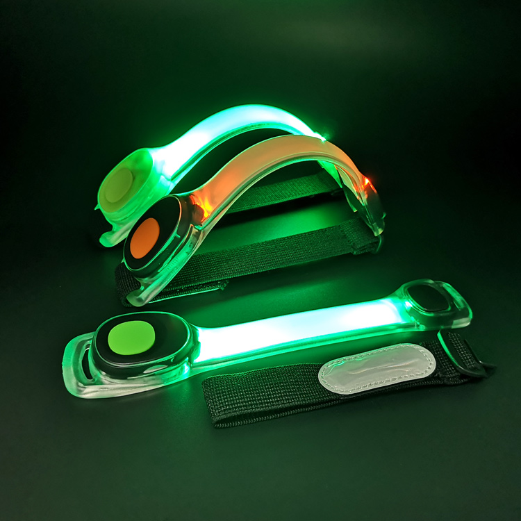 Reflective gear for running at night flashing led armband safety light