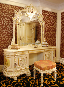 Luxury French Rococo Bedroom Furniture Dresser Table & Mirror ...