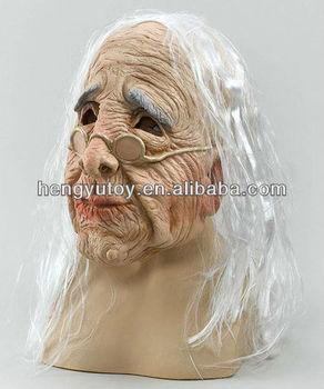 Realistisch Haar Oma Kostum Gummi Alte Frau Maske Buy Alte Frau