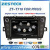 ZESTECH OEM 7 inch 2 din Car radio with gps navigation car radio for toyota PRIUS with BT+DVD+RADIO+WinCE + A8 ChiPSET