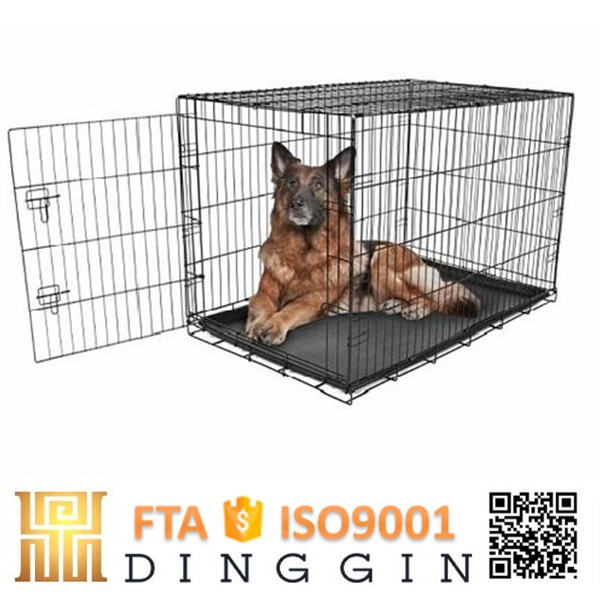 Prefabricated wrought iron dog cage