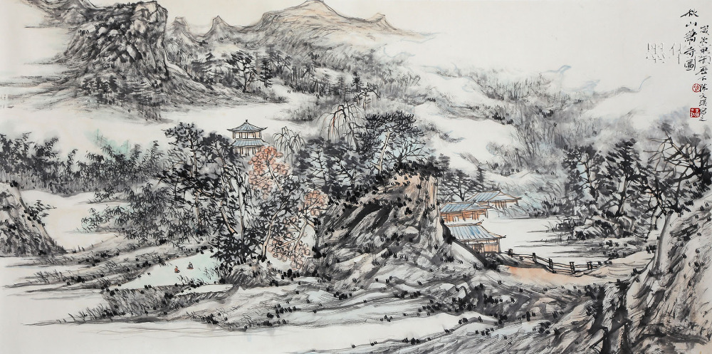 Original Traditional Asian Chinese Landscape Painting Ink ...
