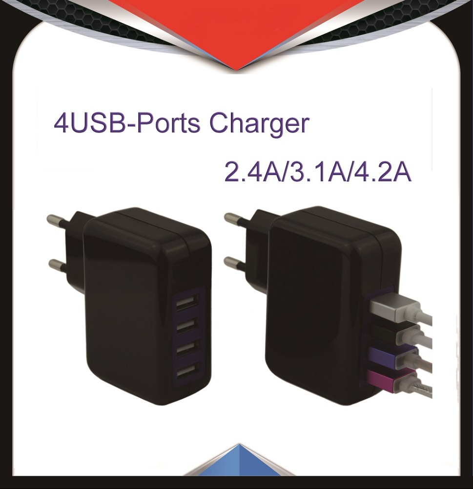5V 4A Multi port USB charger, 4USB power adapter