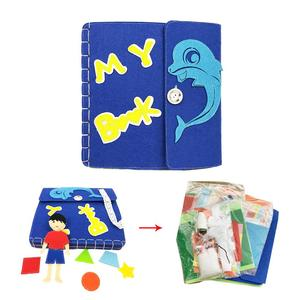 Children baby colorful soft cartoon cloth baby book Early Learning educational story toy