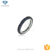 925 silver couple rings charm with blue stone for engagement tanishq