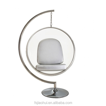 Home Furniture Acrylic Bubble Chair With Stand