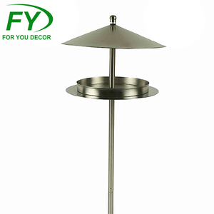New design Eco-friendly stainless steel metal bird feeder ware pole station