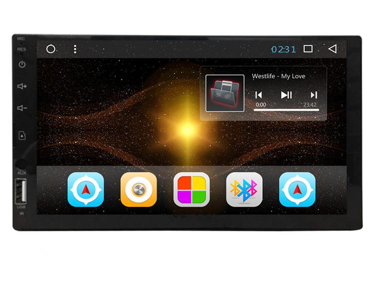 TTK Auto Radio del Coche Navegaci/ón GPS Radio Am//FM//RDS Audio est/éreo del Coche Reproductor de Video Radio Incorporado Wi-Fi Bluetooth Control de la Rueda