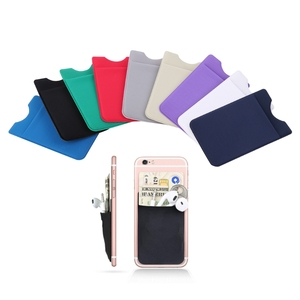 Good Adhesive Customize Wallet Silicone Phone Card Cash Holder Case for Phone
