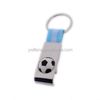 3D soccer key ring football fans souvenirs rotating degree football keychains metal shopping cart coin key holder