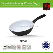 As seen on tv authentic rotating bbq enamelware aluminum non stick frying pan