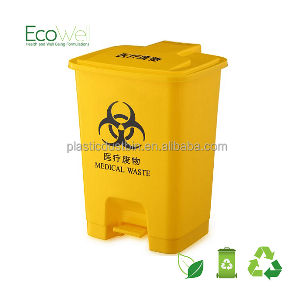 25L Medical Waste Container With Foot Pedal