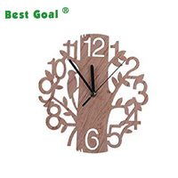 Tree Shaped Wall Clock Wood Decorations Housewarming Clocks