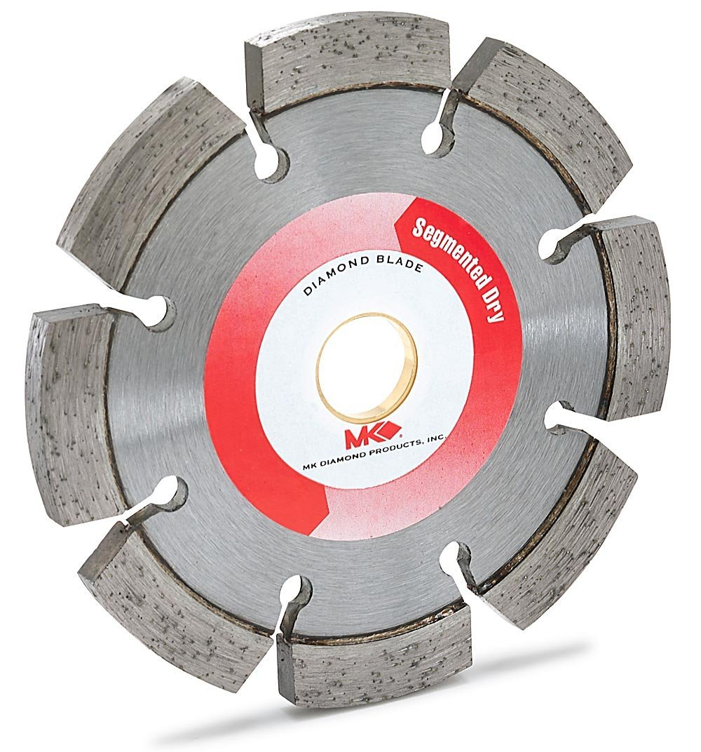 MK Diamond 153150 MK-304DT Premium 4-Inch by .250-Inch Dry Cutting Segmented Diamond Saw Blade with 5/8-Inch or 7/8-Inch Arbor for Masonry