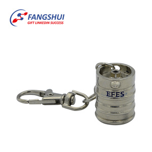 Hot sale make your own design oil barrel metal bucket piston keychain