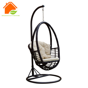 Swingasan Weatherproof Rattan Egg Hammock Used Hanging Chair