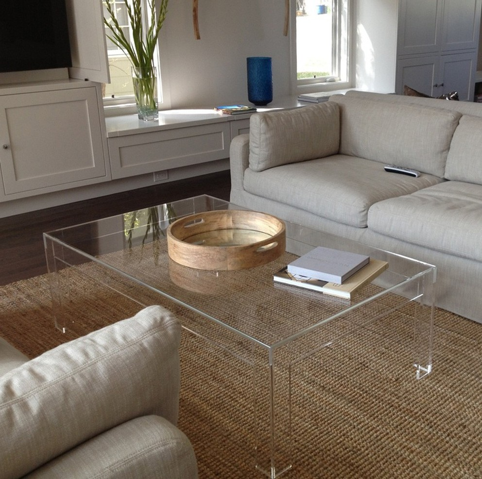 - Modern Acrylic Coffee Table Tea Table,Office And Living Room
