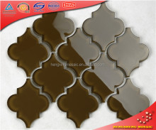 HSD201 Brown Glass Lantern Designs Mosaic Tile Water Jet Cutting