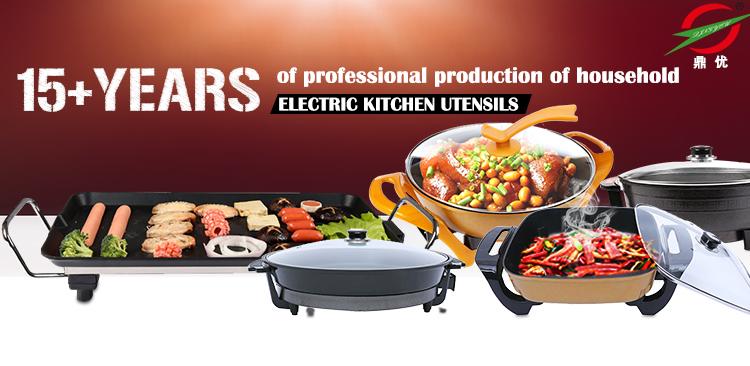 Gegoten aluminium platte elektrische BBQ grill pan
