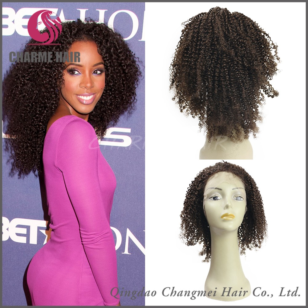 wholesale top quality malaysian hair afro kinky curly full lace human hair wig