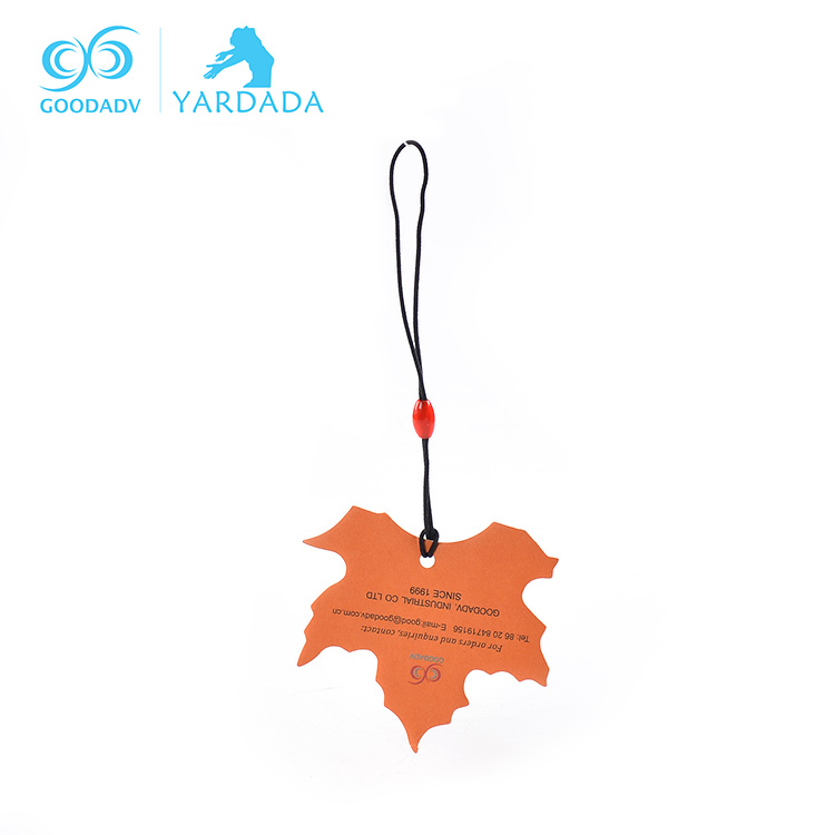 Factory supply eco-friendly Fashion hanging car perfume Printed scented hanging paper car air freshener