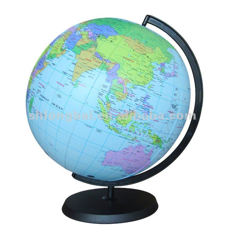 12 inflatable 12 in clear world globe inflate earth ball