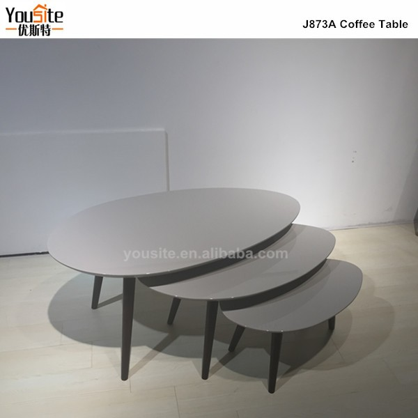 Modern Cheap Stackable Coffee Table Sets Nesting High End