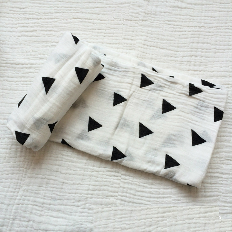 Double Anti-bacterial baby muslin swaddle blanket factory directly hot selling baby blanket with portable bamboo fabric