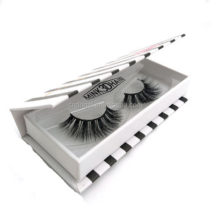 Customized Private Label 3D Real Mink Fur False Eyelash with Custom Eyelash Box