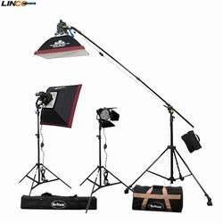 Professional Photography 1800w 3 Twin Halogen Light Kit with three 300w/600w Halogen Light (Power Adjustable)+6 bulb for 8054 Halogen Light+3 Compact Light Stand+2 24''x24'' Softbox+1 D130mm Barndoor+2 carrying bag By Britek#1800THKB